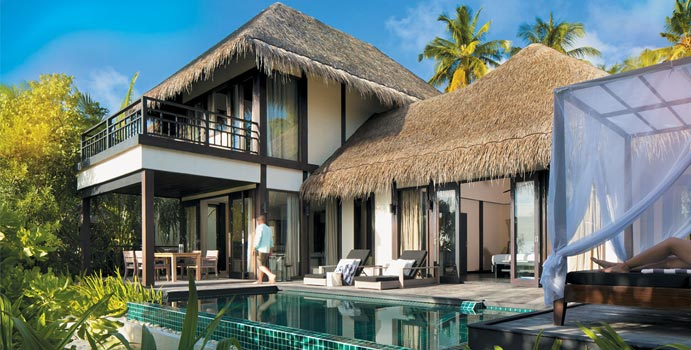 Two Bedroom Beach Villa with Private Pool, Outrigger Konotta Maldives Resort