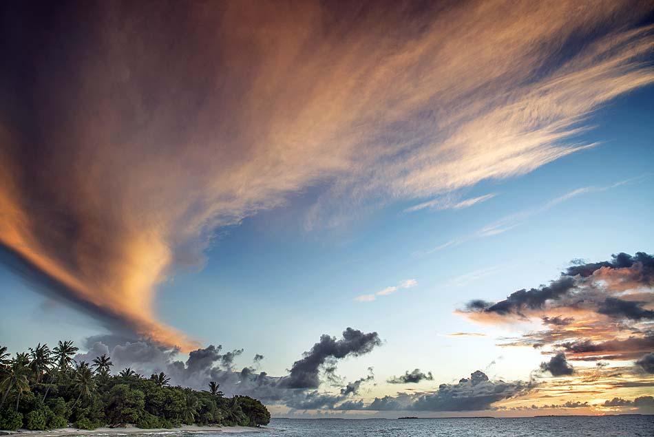 Wolkenhimmel, Park Hyatt Maldives Hadahaa, Maldives