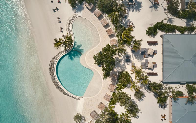 Aerial Pool, Patina Maldives, Fari Islands