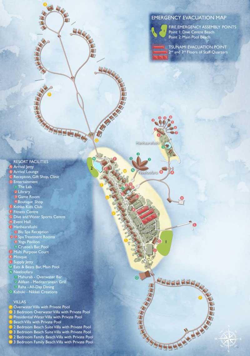 Lageplan Radisson Blu Resort Maldives