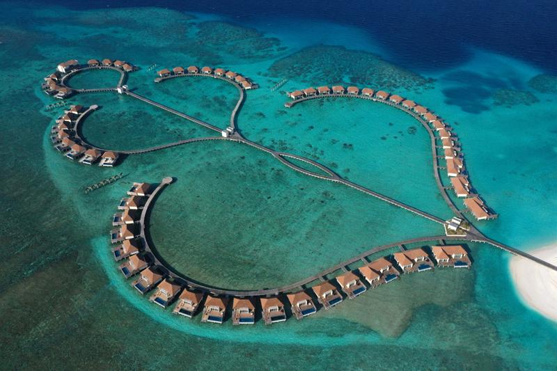 Wasservillen Südseite, Radisson Blu Resort Maldives