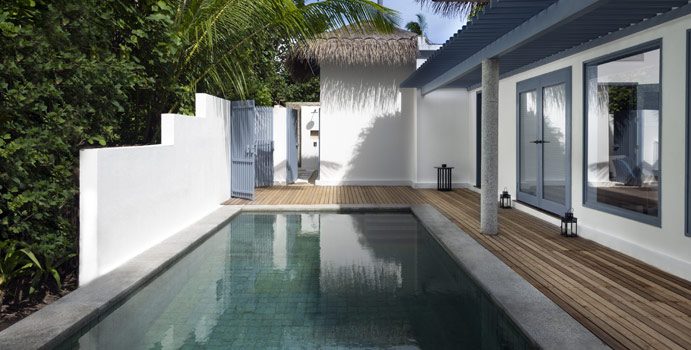 Pool, Beach Residence, Two Bedroom, Raffles Maldives Meradhoo
