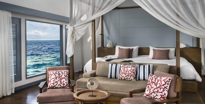 Schlafen, Overwater Villa, Raffles Maldives Meradhoo