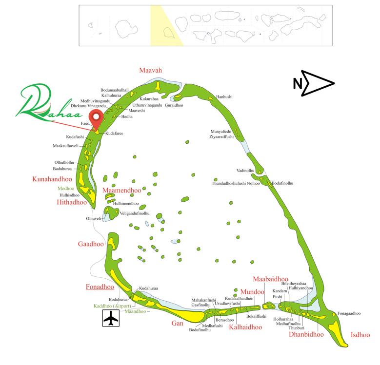 Lageplan Rahaa Resort