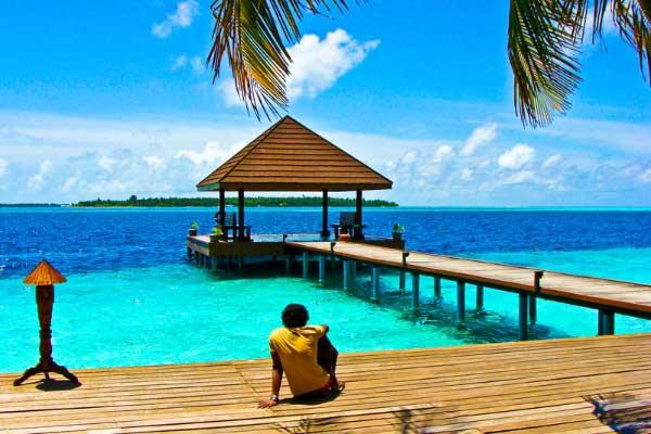 Ankunftssteg, Ranveli Island Resort, Malediven