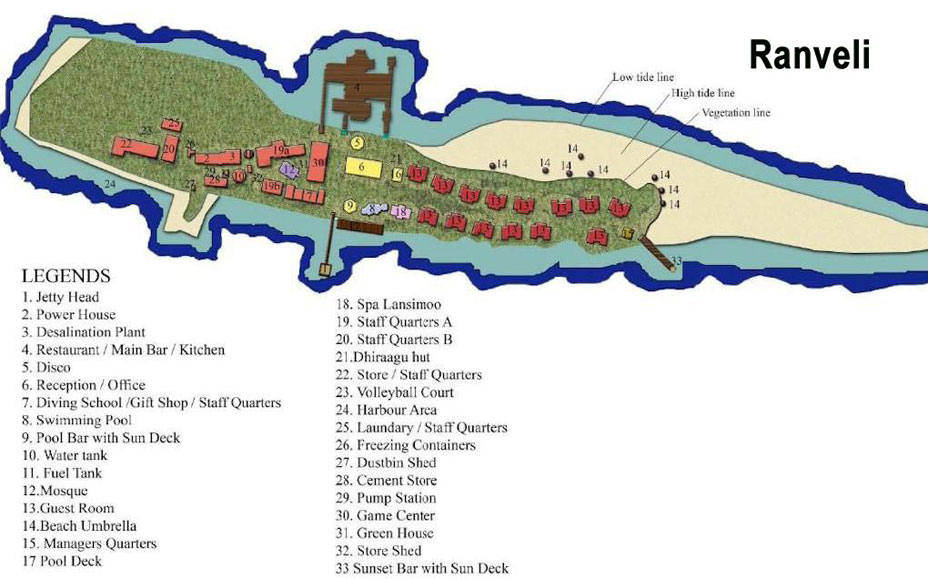 Lageplan Ranveli Island Resort