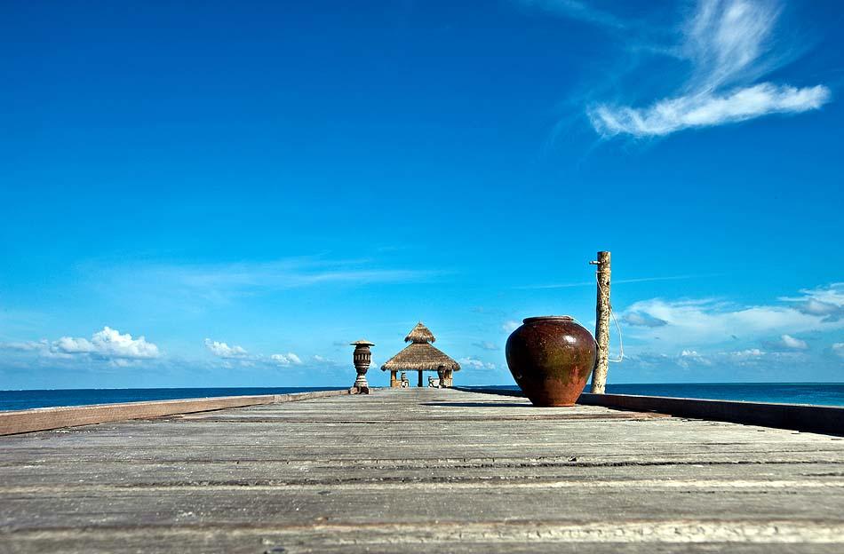Ankunftssteg, Reethi Beach Resort, Malediven
