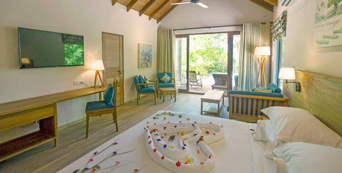 Schlafzimmer, Family Deluxe Beach Villa, Reethi Faru Resort