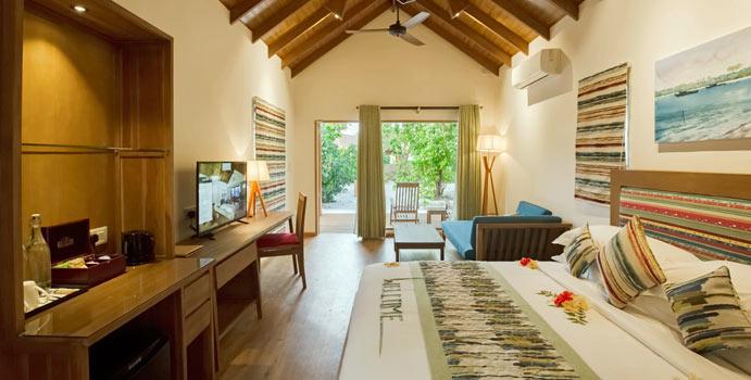 Wohnen, Garden Villa, Reethi Faru Resort
