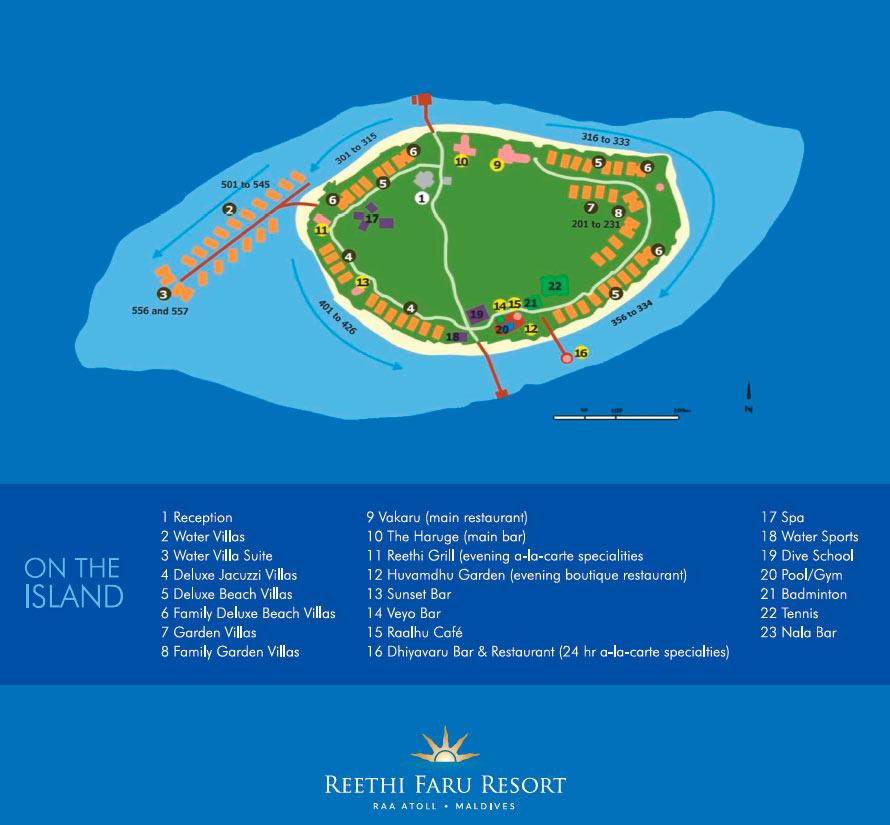 Lageplan Reethi Faru Resort