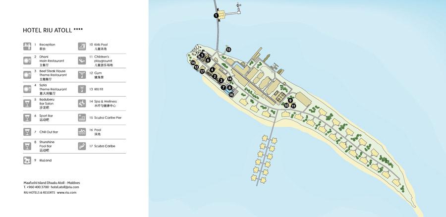 Lageplan RIU Atoll