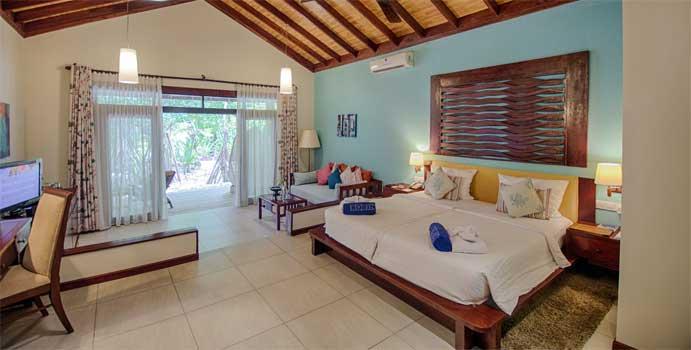 Schlafen, Gartenbungalow, ROBINSON Club Maldives