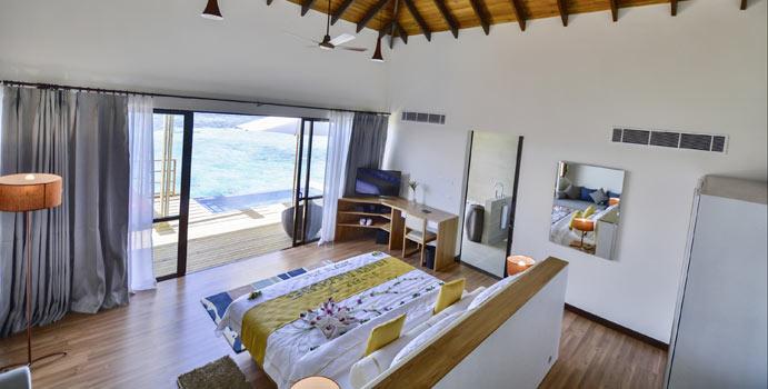 Wohnen, Wasserbungalow mit Private Pool, ROBINSON Club Maldives