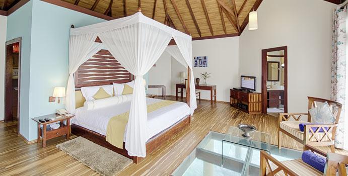 Wohnen, Wasserbungalow, ROBINSON Club Maldives