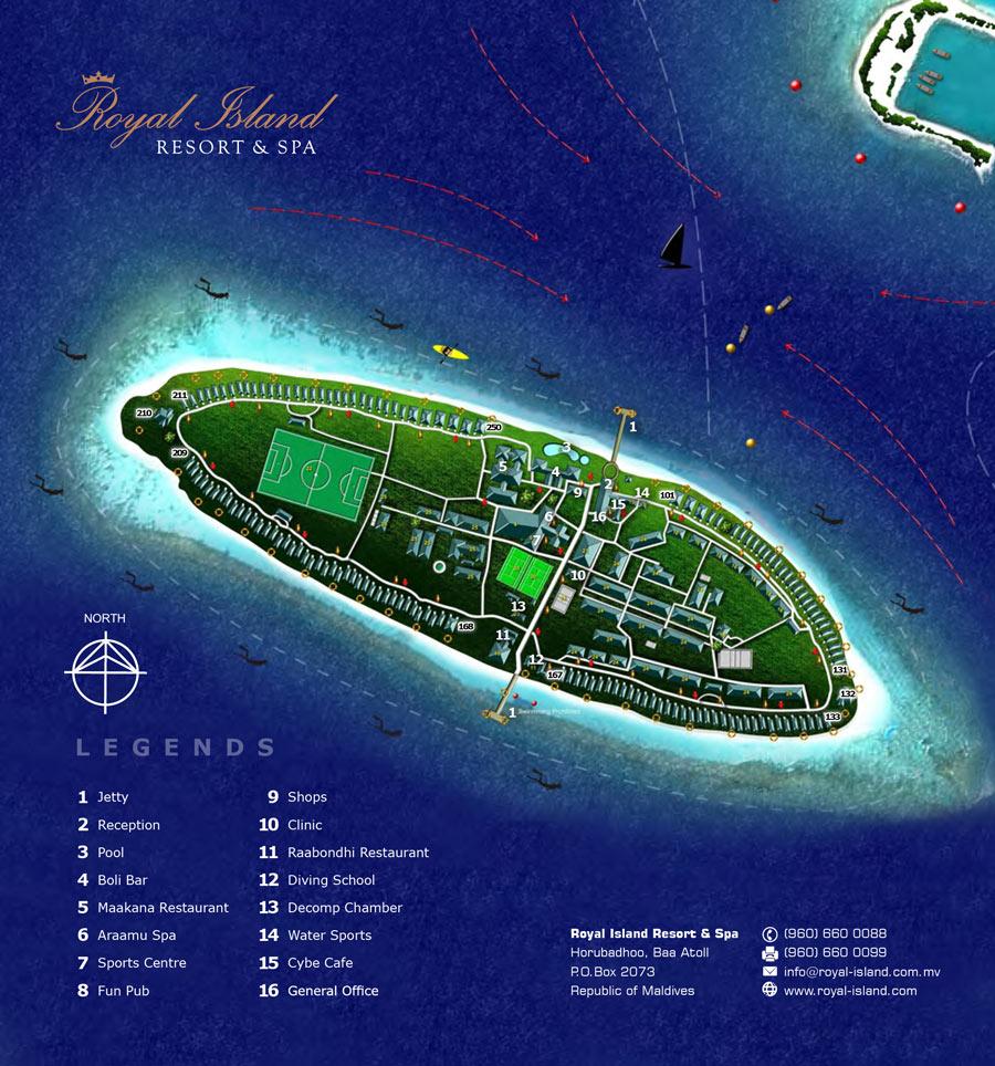 Lageplan Royal Island Resort & Spa