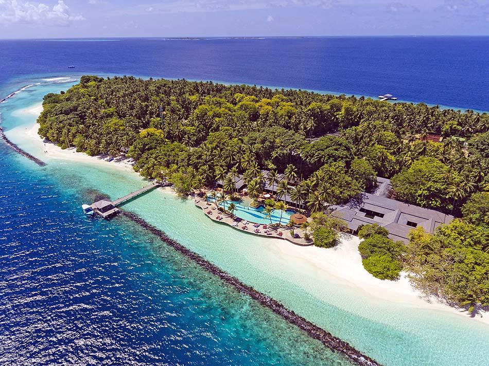 Blick von vorne, Royal Island Resort & Spa, Maldives