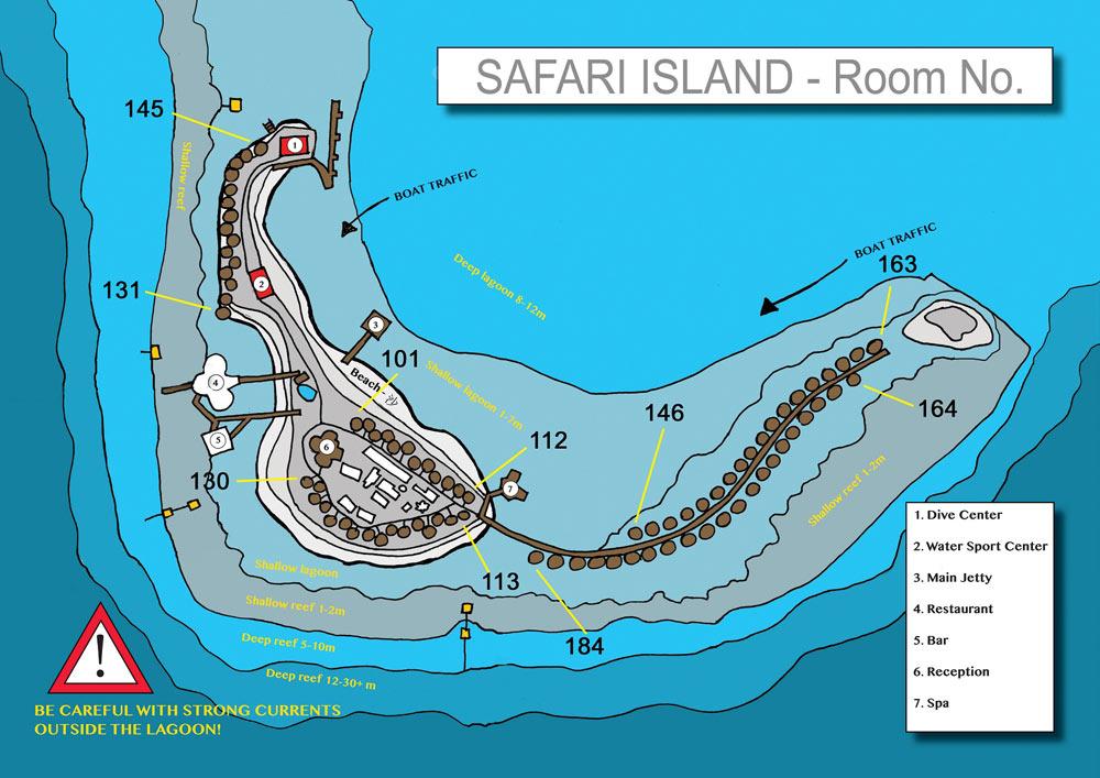 Lageplan Safari Island Resort