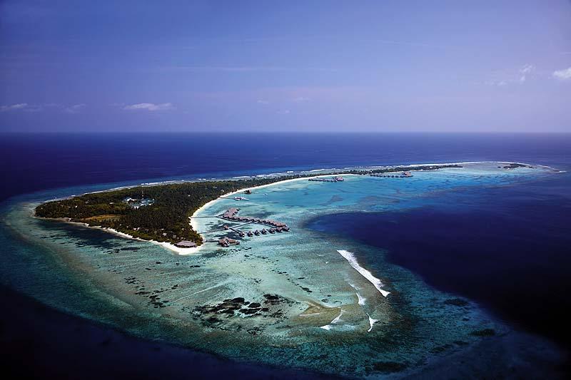 Vogelperspektive, Luftaufnahme, Drohne, Shangri-La's Villingili Resort & Spa, Malediven