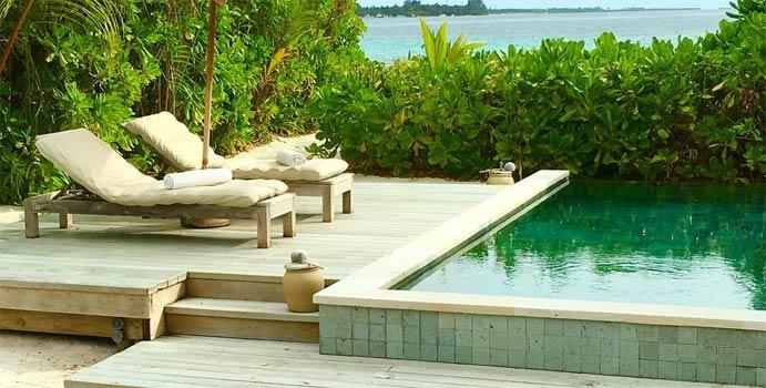 Pool, Lagoon Beach Villa with Pool, Six Senses Laamu