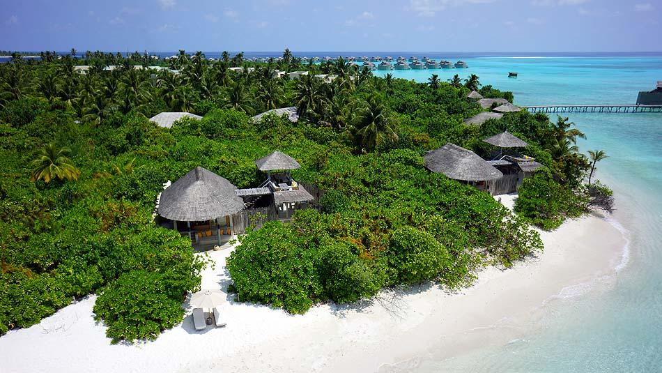 Luftaufnahme, Ocean Beach Villa, Six Senses Laamu, Malediven