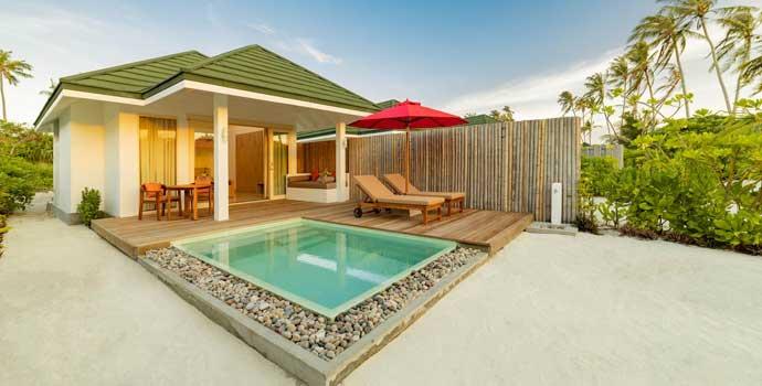 Sunset Pool Beach Villa, Siyam World Maldives