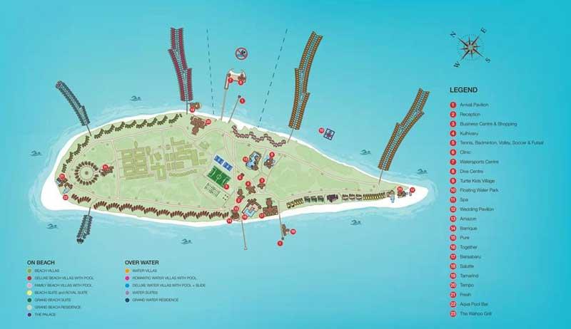 Lageplan Siyam World Maldives