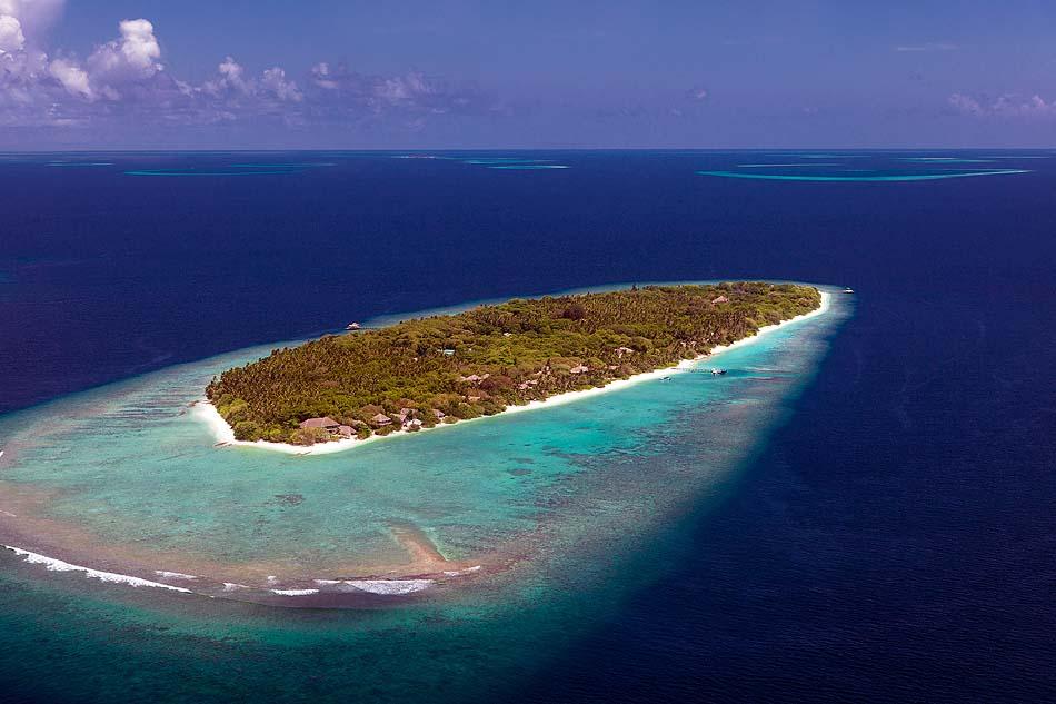 Luftaufnahme, Soneva Fushi, Maledives