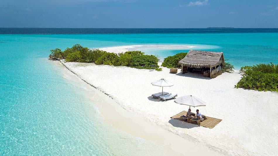 Sonu Picnic am Strand, Soneva Fushi, Maledives