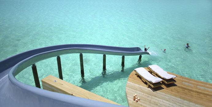 Wasserrutsche, 1 Bedroom Water Retreat with slide, Soneva Jani