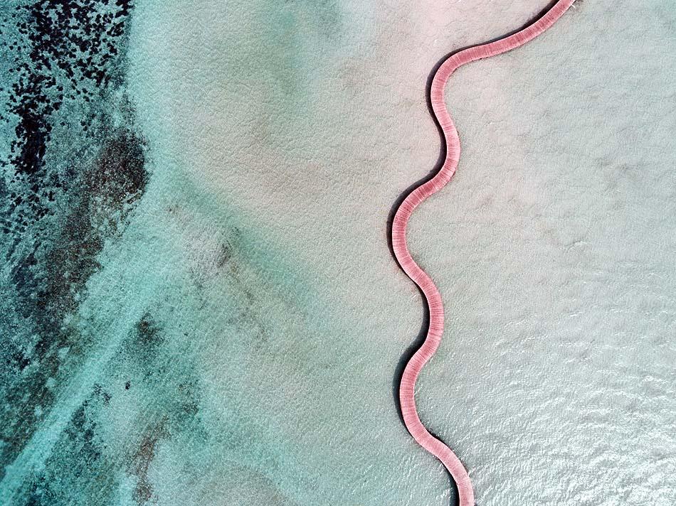 Vogelperspektive Steg, Soneva Jani, Maldives