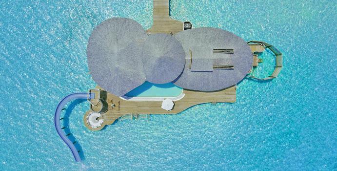 Luftaufnahme, 3 Bedroom Water Reserve with Slide, Soneva Jani