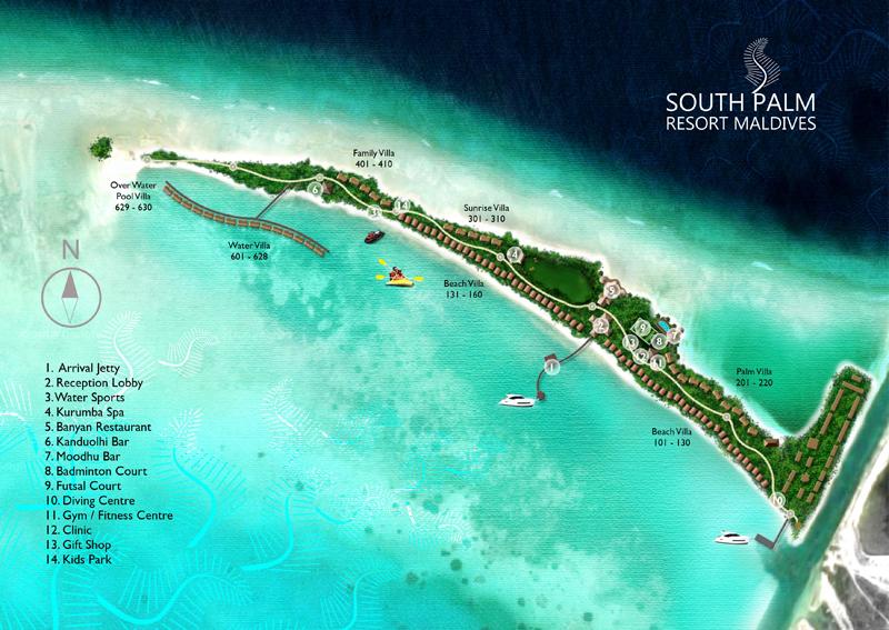 Lageplan South Palm Resort Maldives
