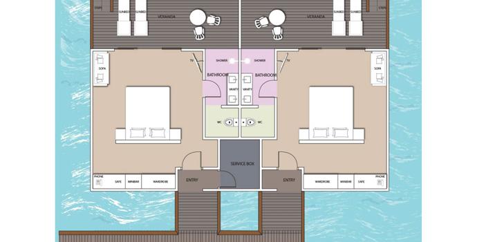 Floorplan, Water Villa, South Palm Maldives