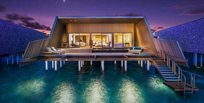 Sunset Overwater Villa with Pool, The St. Regis Vommuli