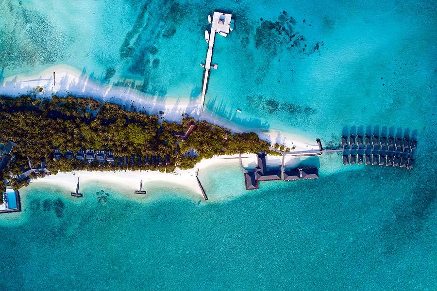 Drohnenbild, Summer Island Maldives