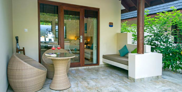 Terrasse, Superior Bungalow, Summer Island Maldives