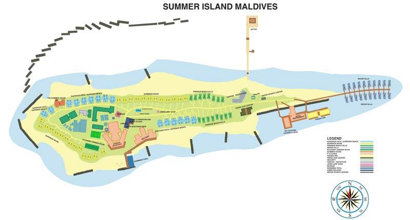 Lageplan Summer Island Maldives