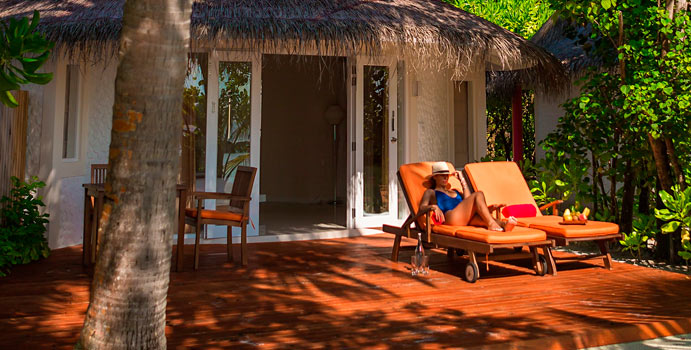 Beach Villa, Aussenansicht, Sun Aqua Vilu Reef Maldives