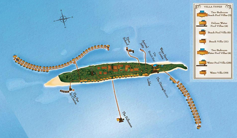 Lageplan The Residence Maldives at Falhumaafushi