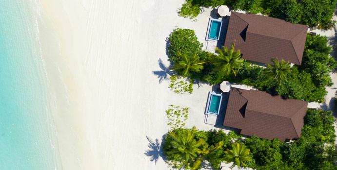 Luftaufnahme, Lagoon Beach Villa | The Standard Maldives