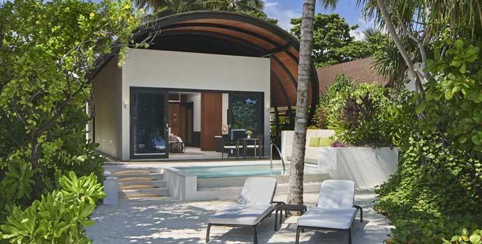 Deluxe Beach Villa Pool, The Westin Maldives Miriandhoo Resort