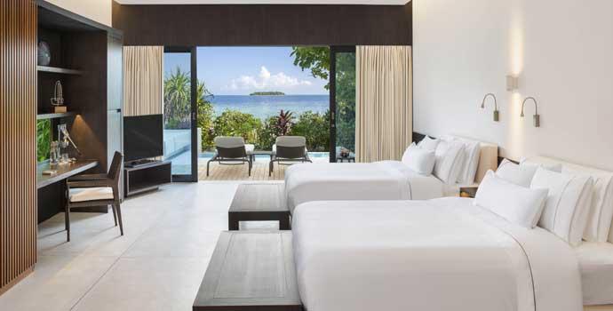 Family Beach Villa Pool, The Westin Maldives Miriandhoo Resort