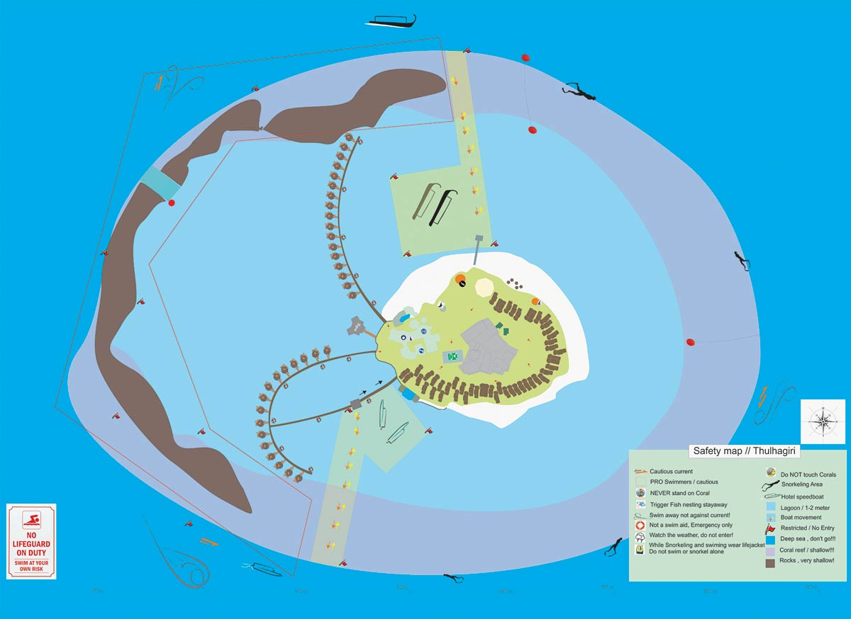 Lageplan Thulhagiri Island Resort