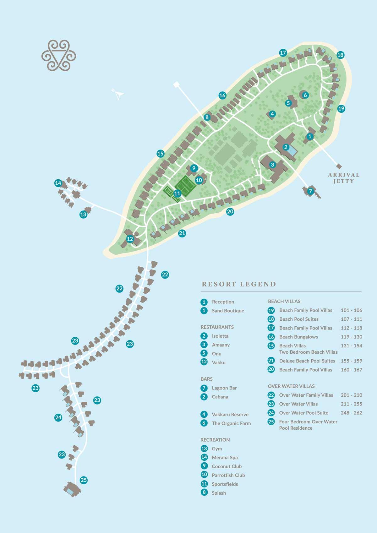 Lageplan Vakkaru Maldives
