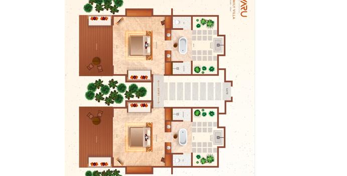 Family Villa, Grundriss, Varu by Atmosphere