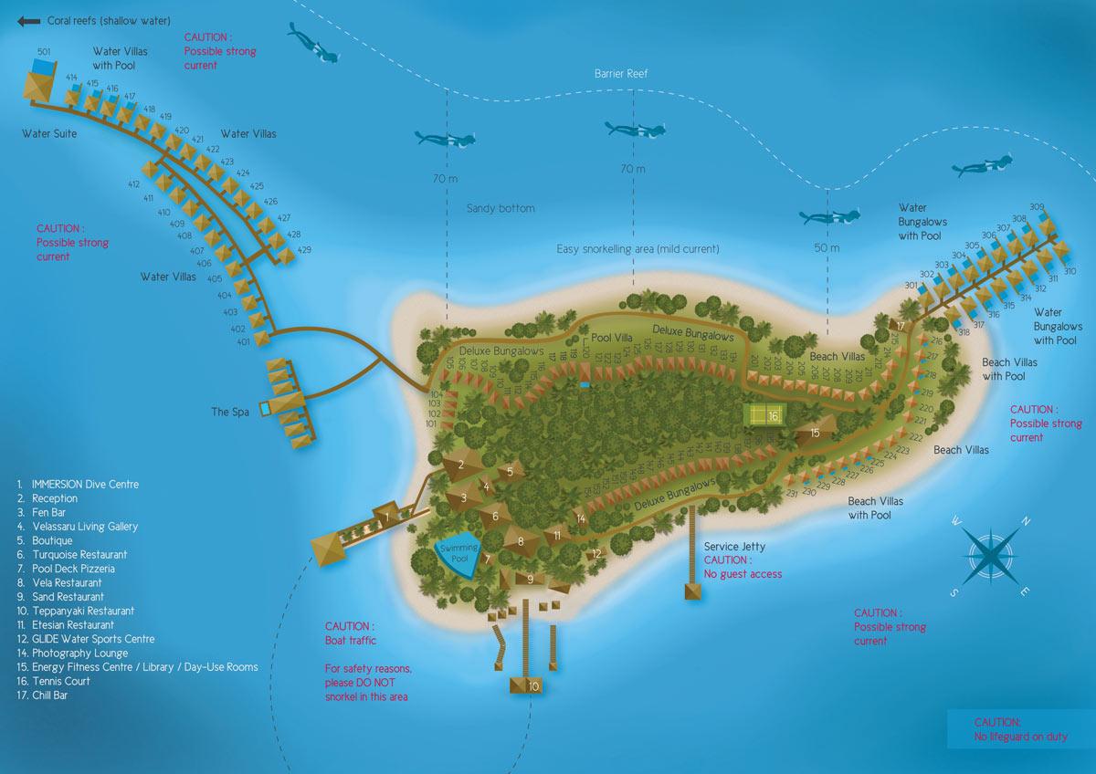 Lageplan Velassaru Maldives
