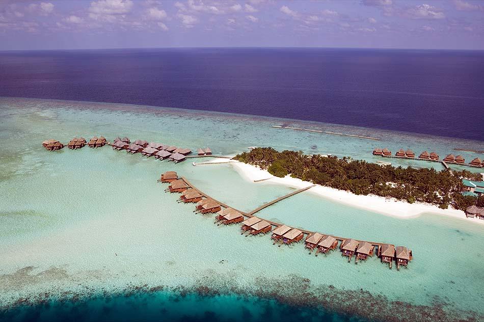 Vogelperspektive, Veligandu Island Resort, Maldives