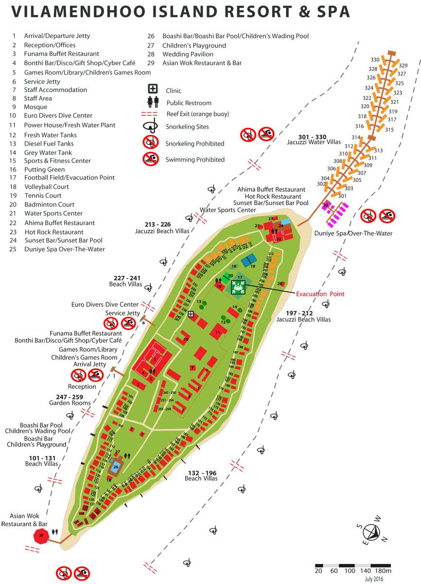 Lageplan Vilamendhoo Island Resort
