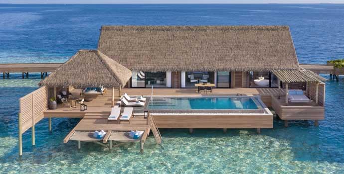 King Overwater Villa with Pool, Waldorf Astoria Maldives Ithaafushi