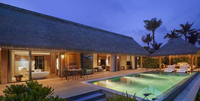 King Grand Beach Villa with Pool, Waldorf Astoria Maldives Ithaafushi